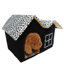 Luxury Pet House Spot Double Top Puppy Dog Cat Warm Kennel Sleep Bed Room Mat -Y102(China)