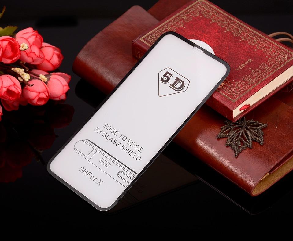 5D Glasses for iPhone 6 6s plus Glass Film Full Cover iphone6 Screen Protector for iPhone 6 6s 7 8 plus x Tempered Glass 3D 4D (11)