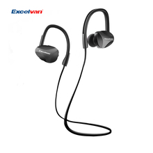 Excelvan U11 Wireless Bluetooth Earphone Hifi Stereo Sound Musical Headset Ear Hooks Sweat-Proof Built in Mic Bluetooth 4.1(China)