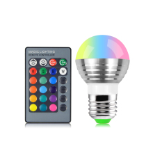 220V 110V E27 RGB LED Stage light dmx lamp Bulb Atmosphere Night lighting effect Remote Controller For Party Disco DJ Bar light(China)