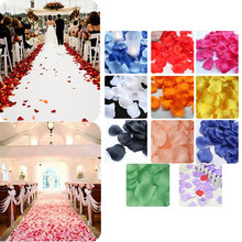 100pcs/ Bag Artificial Flower Rose Petals Fake Petals For Valentine Wedding Party Decoration Hot Sale(China)