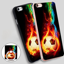 Soccer Ball fire football Soft TPU Silicone Phone Case Cover for iPhone 4 4S 5C 5 SE 5S 6 6S 7 Plus