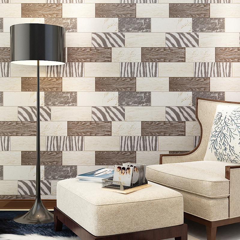 beibehang Mediterranean wooden vertical stripes Striped Wallpaper roll papel de parede 3D Photo Mural Wall paper for Living room<br>