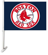 30x45CM Boston Red Sox car Flag window Car flag polyester Car decoration with flagpole Free Shipping