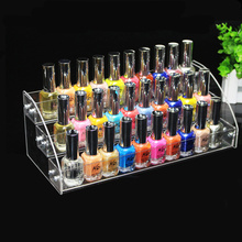 3 Tiers Nail Polish Rack Clear Acrylic Organizer Cosmetic Makeup Lipstick Jewelry Display Stand Holder 31*13.3*11CM(China)