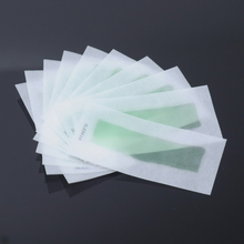 10pcs/lot Double Side Use Roll On Hair Remover Wax Strips Depilatory Wax Epilator Paper For Face / Legs Hair Removal Cream P2