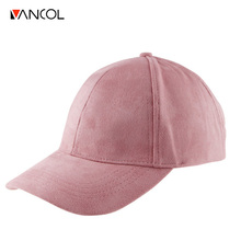 Vancol Summer Baseball Cap Women 2016 Fashion Brand Wholesale Street Hip Hop Caps Suede Hats for Ladies Black Grey Baseball Cap(China)