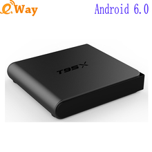 5pcs new Android Smart TV Box S905X quad core network media player WIFI 1G 8G 4K H.265 DLAN Airplay STB T95X