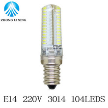 1x  E14 3014 Dimmable Led Spotlight 24/48/64/72/120leds High Brightness AC220V for home lighting lampada led lamps CE ROHS
