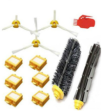 12PCS/lot, HEPA Filters Bristle & Flexible Beater Brush cleaning tool Accessory kit for iRobot Roomba 700 Series 760 770 780 790