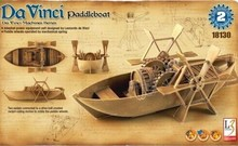 Free shipping Academy 18130 Leonardo Di Serpiero Da Vinci Machines Series:Paddleboat Plastic Model kit