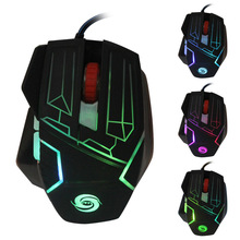 Colorful metal mechanical feeling game font b mouse b font 6 keys wired font b mice