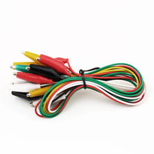New 10pcs Alligator Clips Electrical DIY Test Leads Alligator Double-ended Crocodile Clips Roach Clip Test Jumper Wire 5 Colors