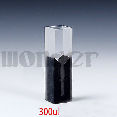 300ul Sub-Micro JGS1 Quartz Cuvette Cell With Black Walls And Lid(300ul)<br>