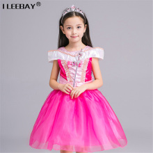 Girl Performance Dress Children Clothing Belle Princess Kids Aurora Sofia Sleeping Beauty Dress Girls Ball Gown Cosplay Costumes(China)