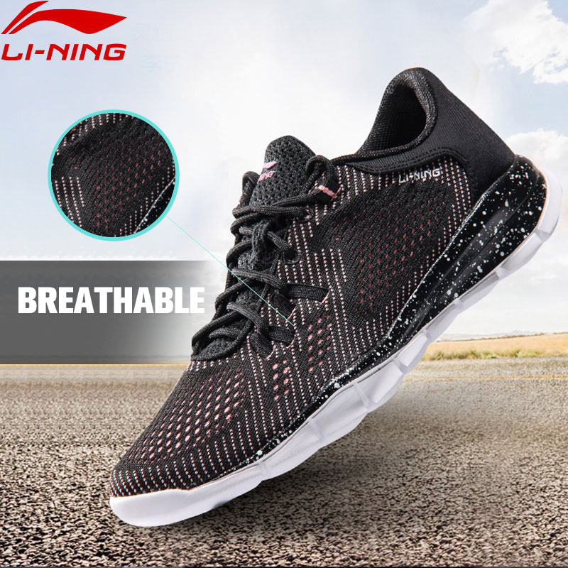Li-Ning Womens QUICK XT Running Shoes Breathable Fabric Sneakers Light Weight LiNing Sports Shoes ARKM024 XYP473<br>