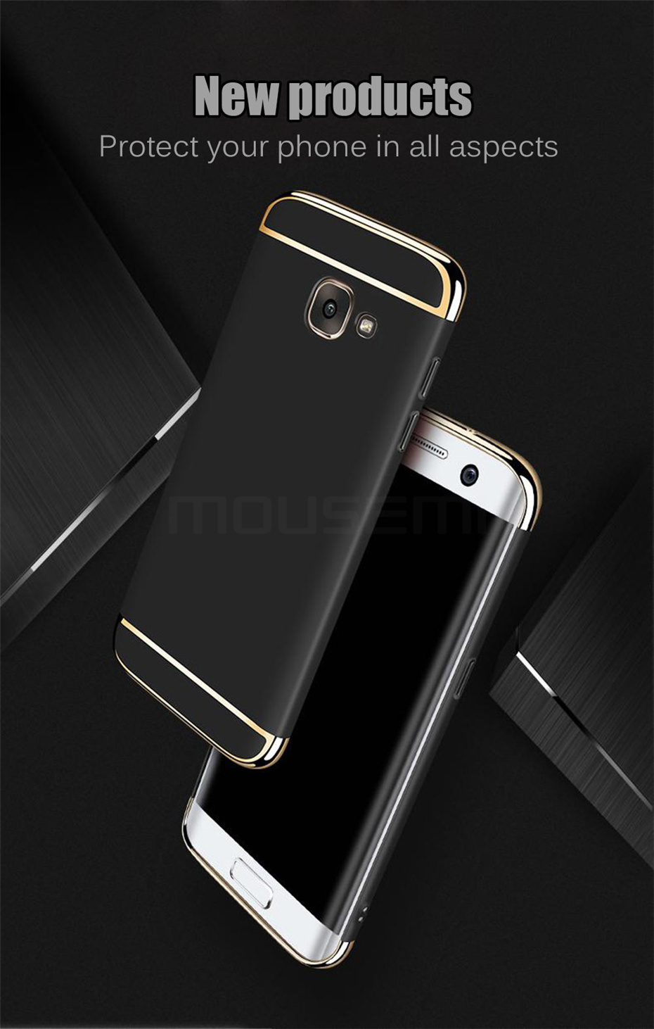 MOUSEMI Phone Cases For Samsung Galaxy A3 A5 A7 2016 2017 Case Luxury For Samsung Galaxy A8 plus 2018 Case 360 Full Covers Coque (1)