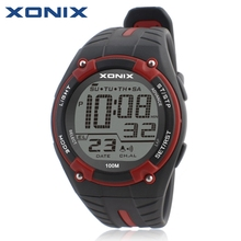 XONIX Men Sports Watches Waterproof 100m Outdoor Fun Multifunction Digital Watch Swimming Diving LED Wristwatch Montre Homme