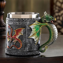 1pcs Retro Royal Dragon Mug Serpent Medieval Collectible Stein 3D Dragon Spine Tankard Drinking Vessel Nice Gift Super Cool(China)