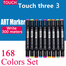 168pcs Touch Professional Art Markers Liner Oily Alcoholic Multicolor Manga Art Supplies Marker for Sketch Comics Student Design