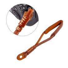PU Leather Camera Hand Wrist Strap For Sony for Nikon for Panasonic SLR Camera Wrist Lanyard(China)