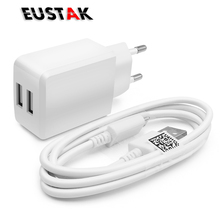 EUSTAK 5V 2A Double port USB Charger Travel USB Wall Mobile Phone Charger charge for Samsung Galaxy S3 4 xiaomi huawei LG Tablet(China)