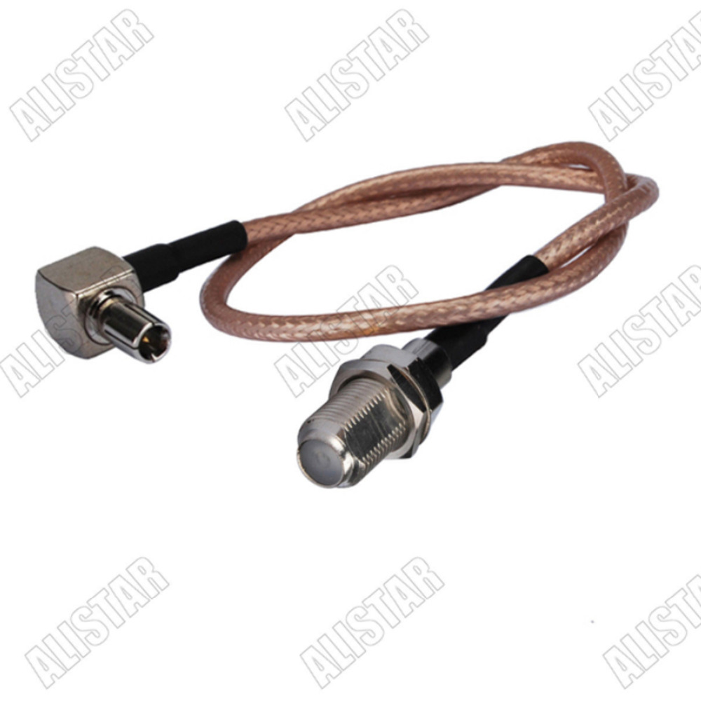 RF pigtail cable SMA female to TS9 male right angle RG316 30CM