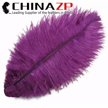 CHINAZP Factory 100 piece.lot Smooth Fluffy Royal PURPLE Wholesale Ostrich Drabs Feathers Bulk Sale(China)