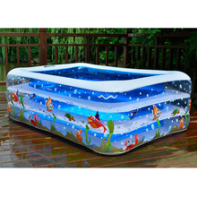 High Quality Children's Home Use Paddling Pool Large Size Inflatable Square Swimming Pool Heat Preservation Kids Paddling Pool(China)