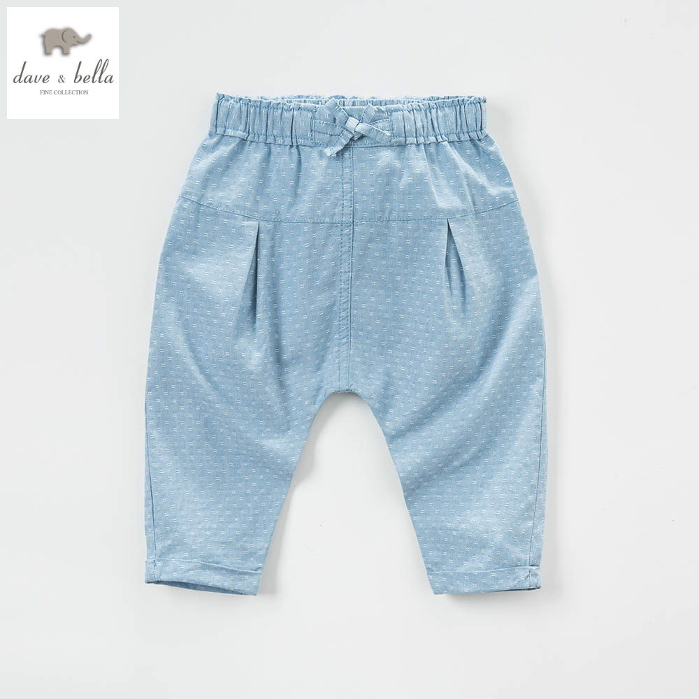 DB4858 dave bella spring baby boys jeans pants infant trousers toddle clothes girls black jeans pants kids  trousers<br><br>Aliexpress