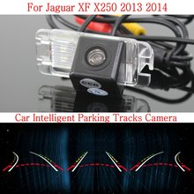Car Intelligent Parking Tracks Camera FOR Jaguar XF X250 2013 2014 / HD Back up Reverse Camera / Rear View Camera(China)