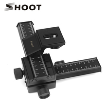 "Buy SHOOT 4 Way Macro Focusing Rail Slider Gimbal Nikon Canon Samsung Sony DSLR Camera Gimbal Mount DC Standard 1/4"" Screw for $35.00 in AliExpress store"