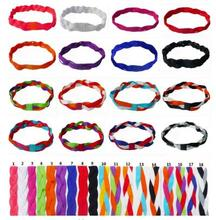 2017 New 10pcs Fashion Softball Baseball Sports Braided Headbands Sweet Non Slip Scrunchy Girl Soccer Elastic Hair Bands