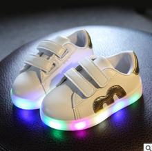 4 Color Children Shoes With Light Children Glowing Sneakers Led Kids Lighted Shoes Toddler Boy LED Flashing Girls Sports Shoes