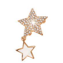 2017 New fashion Crystal jewelry broches flor para as mulheres Pin Rhinestone Five star shiny Brooches for Women collar Brosche