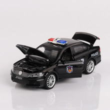 Special Police Car Simulation Alloy Car Model Sound And Light Back To The Car 4 To Open The Door Car 1/32 Children's Toys