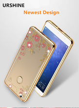 "New Strap Case for for Xiaomi Mi Max 360 Rotate Ring Rhinestone phone case for xiaomi mi max 6.44"" mobile phone cover by URSHINE"