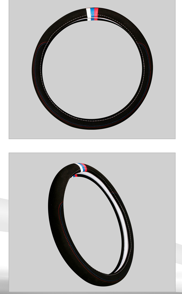 Car accessories Leather Car steering wheel cover All year can use sport Car styling Auto steering wheel Diameter  (1)
