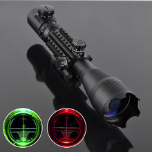 Professional Laser Scope 4-16x50 Red Green Illuminated Reticle Riflescope Sniper Scope with 20MM Rail Mounts for Hunting(China)