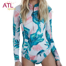One-piece Suit Long Sleeve Swimwear Female 2016 One Piece Swimsuit Women Bathing Suit Surf Rash Guard Beach Clothes Rashguard(China)
