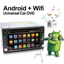 Universal 2 din Android Car DVD player GPS+Wifi+Bluetooth+Radio+1GB CPU+DDR3+Capacitive Touch Screen+3G+car pc+aduio
