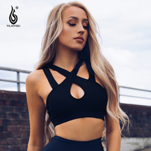 Spinner Curve Sexy Black Corset Women Cross Bandage Sports Bras Adjustable Shoulder Straps Gym Yoga Dance Push Up Bra Lingerie