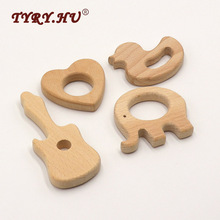 TYRY.HU Beech Wooden Teething Beads Baby Teether DIY Wood Chewing Pendants Organic Eco-friendly Nursing Gifts Baby Teehing Toys(China)