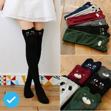 Autumn Winter Thigh High Stockings Women Female Compression Stocking Cat Dog High Knee Socks Fashion Knitted Boot socks NQ934144(China)