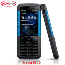 5310 Unlocked Original Nokia 5310 XpressMusic Bluetooth Java MP3 Player Mobile Phone Refurbished Red/Black Phone Free Shipping(China)