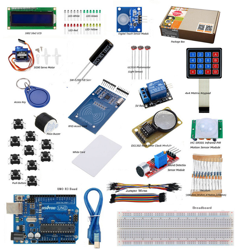 Ultimate RFID Master Starter Kit With UNO R3 Board for Arduino + USB Cable + RC522 Module free shipping<br>