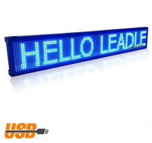 USB Programmable advertising LED Display Sign Board Pure Blue Color Display