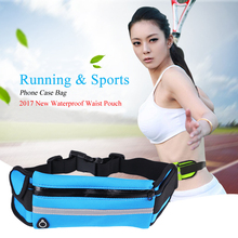 Sport Running Waist Pack Waterproof Belt Pouch Mobile Cell Phone Case Cover Bag for Multi Smartphone Model Below 6 inch(China)