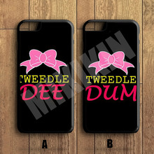 "MIKIKIN Best Friends ""DEE""&""DUM"" Couple Cell Phone Couple Protective Case For iPhone X 8 8+ 7 7+ 6 6S Plus SE 5 5S 5C 4 4S(China)"
