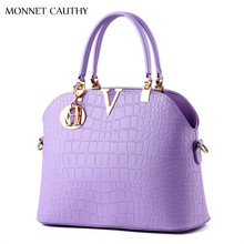 MONNET CAUTHY 2017 Newest Design Women's Bags Solid Color Lavender Pink Black White Wine Red Totes Elegant Lady Fashion Handbags